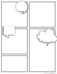 FREE Printable Create Your Own Comic Book Kit