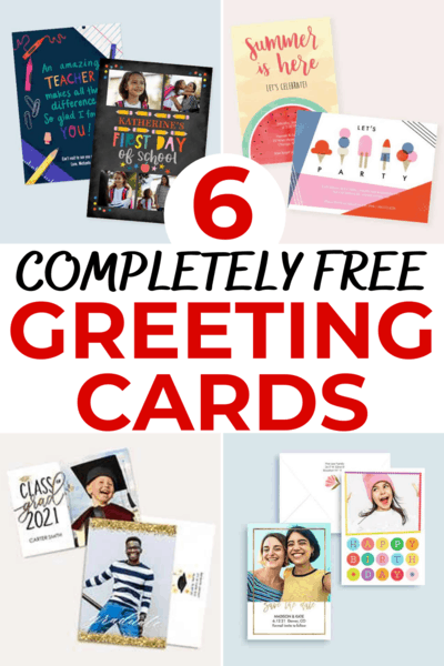 Get Six FREE Cards from Walgreen's