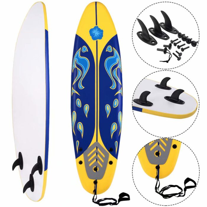 SKONYON 6' Foamie Surfboard with Removable Fins Only 5 (Retail 0)