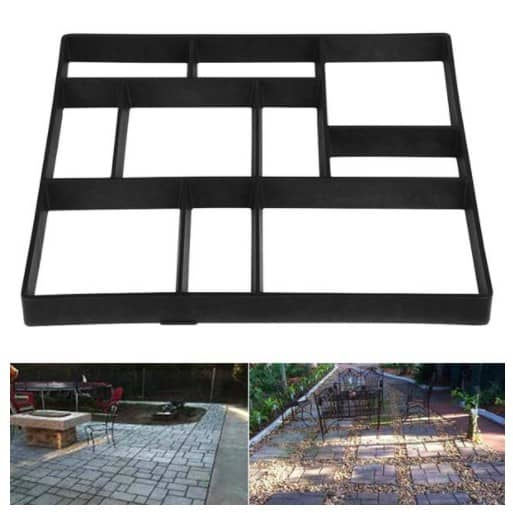 Concrete Garden Paving Pathway Black Stepping Stone Mould Only .99