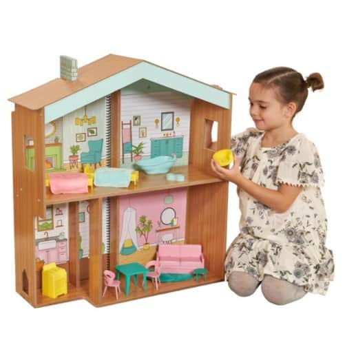 KidKraft Color Decor Wooden Dollhouse with 20 Accessories Only .29
