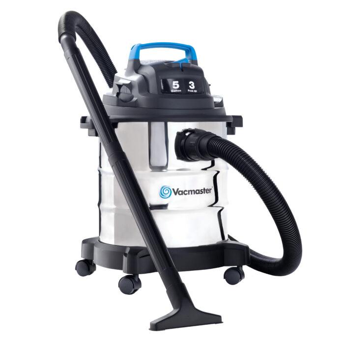 Vacmaster 5 Gallon, 3 Peak HP Stainless Steel Tank Wet/Dry Vacuum .19