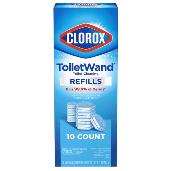 Clorox ToiletWand Disinfecting Refills 10-Count Now .49