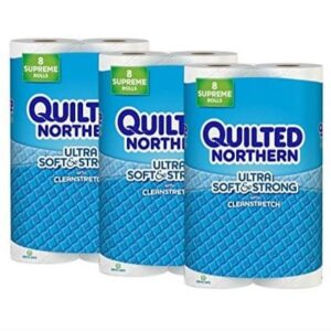 Quilted Northern Ultra Soft & Strong Toilet Paper 24 Supreme Rolls .64