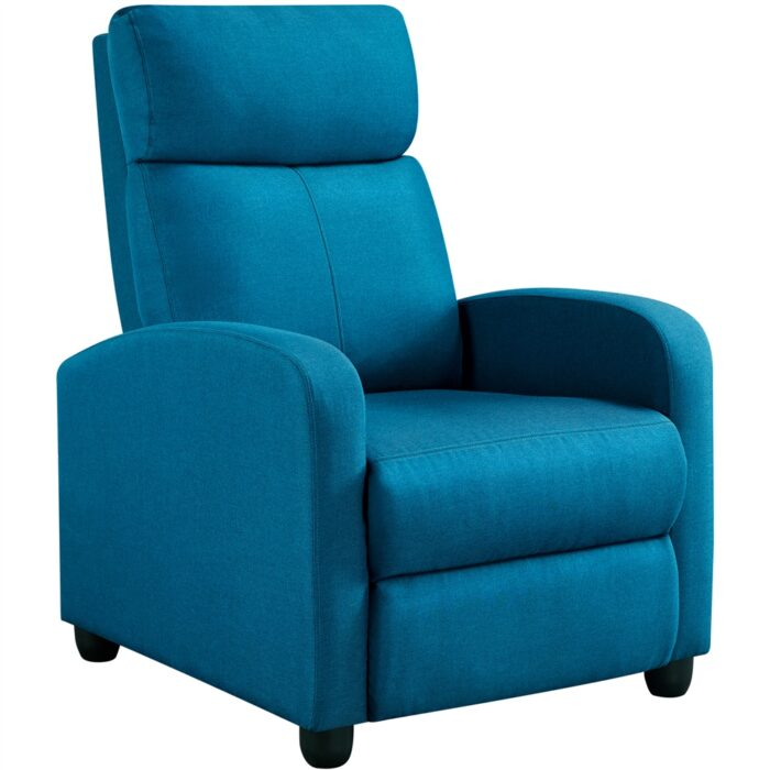 Easyfashion Fabric Push Back Theater Recliner Chair 5.99