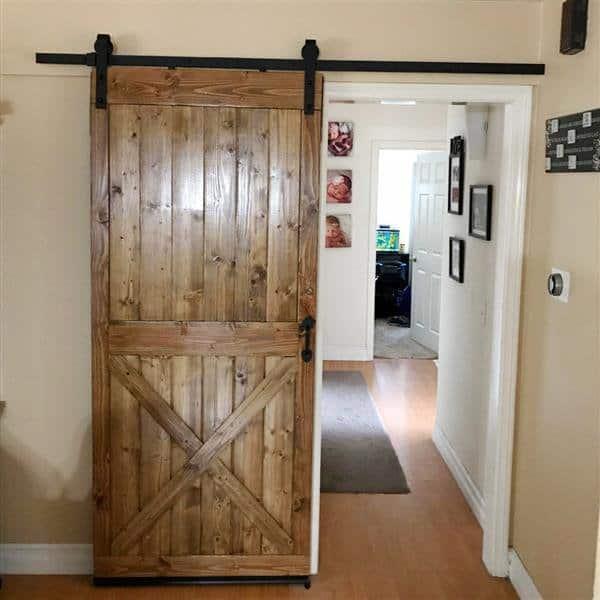 SmileMart 6.6 ft Sliding Track Barn Door Hanging Hardware Kit .99