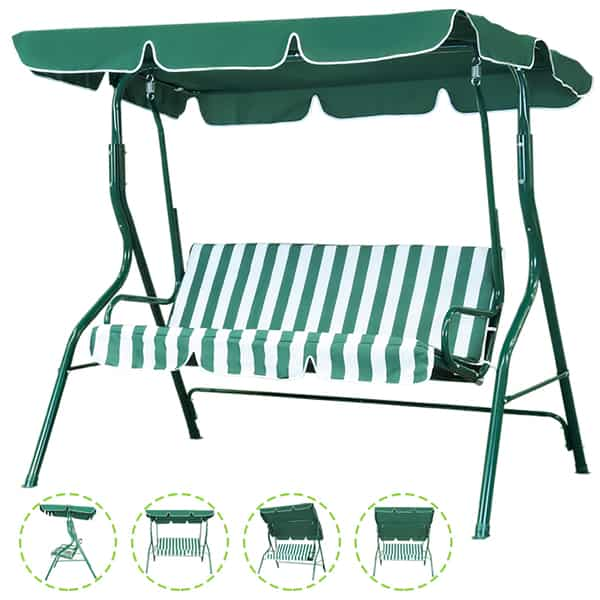 Outdoor Patio Swing Chai with Removable Cushion Only 9.94