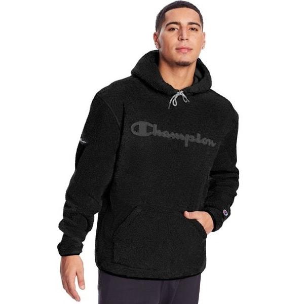 Champion Men's Heritage Sherpa Hoodie Sweatshirt Only .00