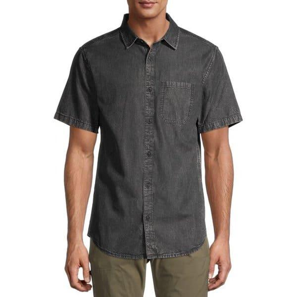 No Boundaries Men's Short Sleeve Denim Shirt Only .00