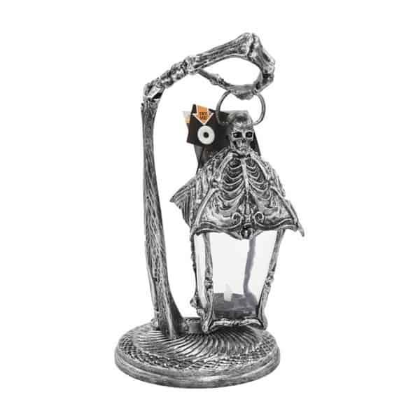 Way To Celebrate Halloween Light Up Skeleton Lantern Tabletop .72
