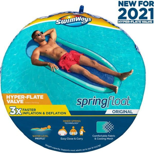 SwimWays Spring Float Inflatable Pool Lounger Only .97