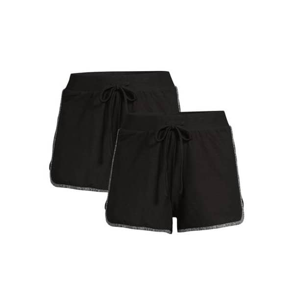 No Boundaries Juniors' Dolphin Shorts, 2-Pack Only .99