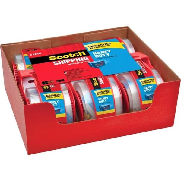 6-Pack Scotch 3850 Heavy-Duty Packaging Tape .50