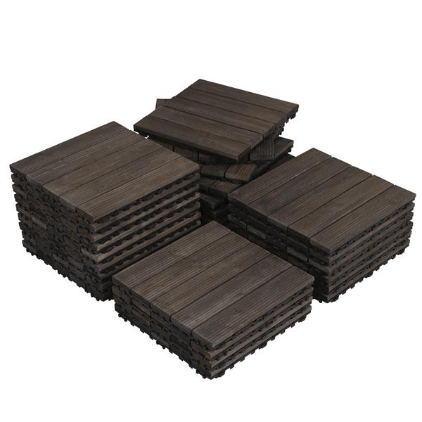 SmileMart Wood Flooring Tiles Only .98