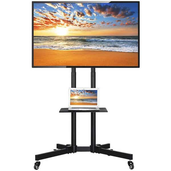 Easyfashion Modern Mobile TV Stand Only .00