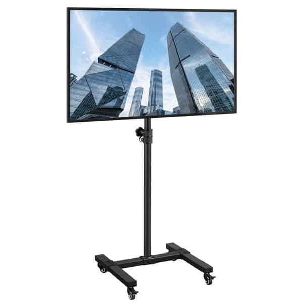SmileMart Height Adjustable Mobile TV Stand Only .79