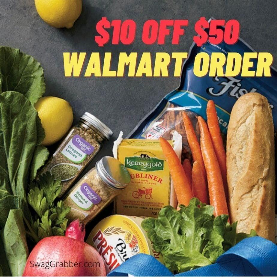 $10 off $50 Walmart order