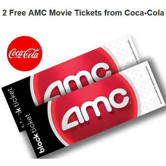 2 Free AMC Movie Tickets from Coca-Cola