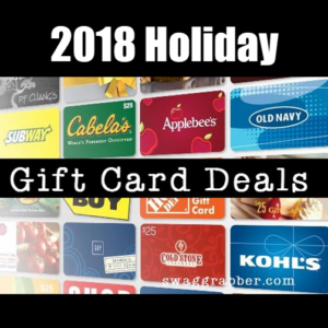 2018 holiday gift card deals