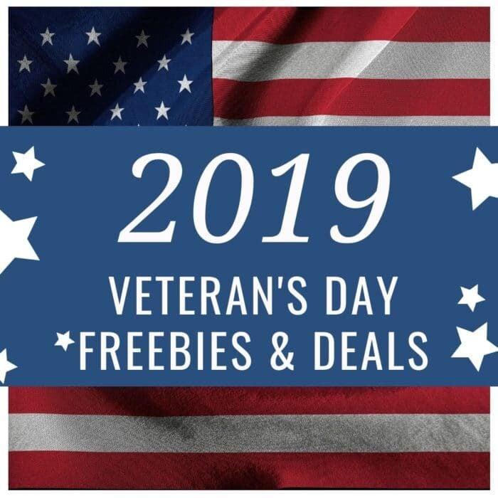 2019 Veteran's Day Freebies & Deals