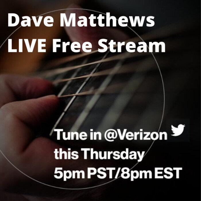 Dave Matthews LIVE Free Stream