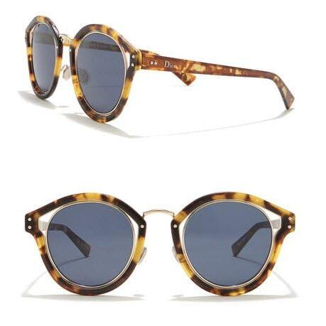 Dior Elliptic 48mm Vented Round Sunglasses