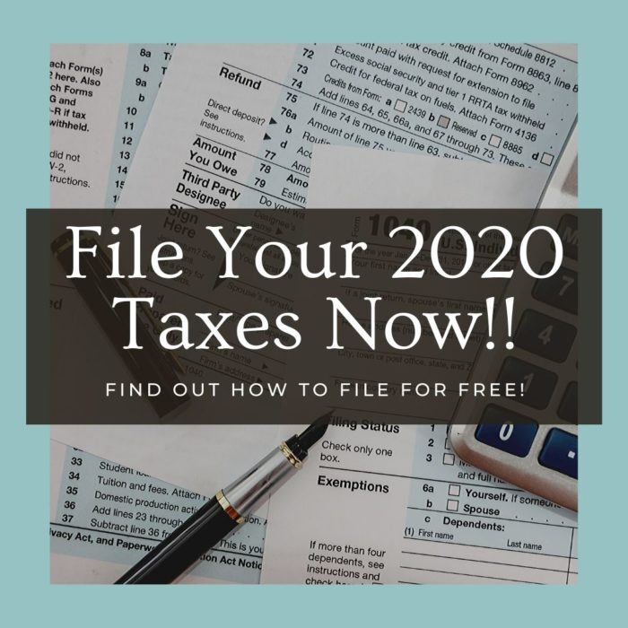 File Your 2020 Taxes Now