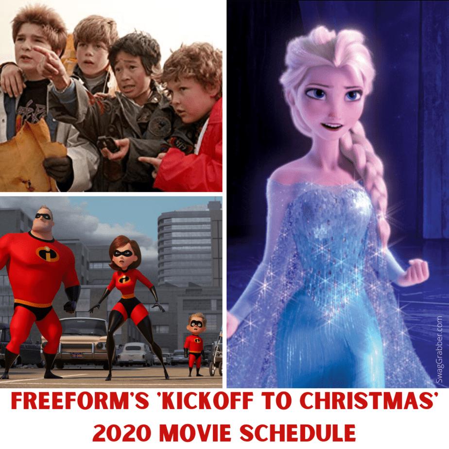 Freeform's 'Kickoff to Christmas' 2020 Movie Schedule