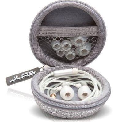 JBuds J3 Micro Atomic In-Ear Earbuds Style Headphones with Travel Case