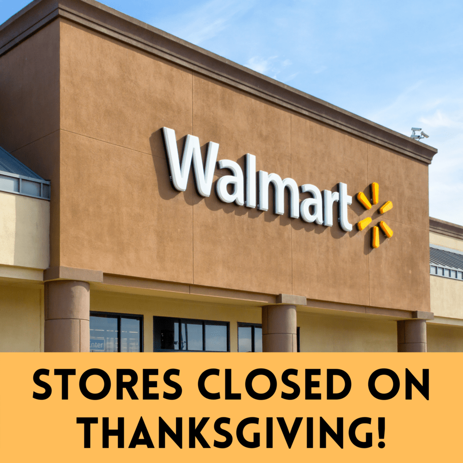 Stores Closed on Thanksgiving!