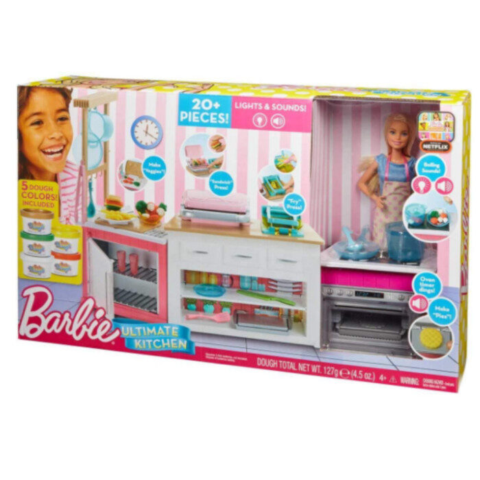 Barbie Kitchen Playset with Doll