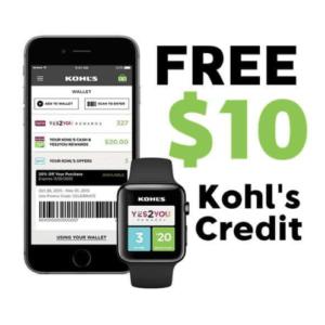 free 10 kohl credit