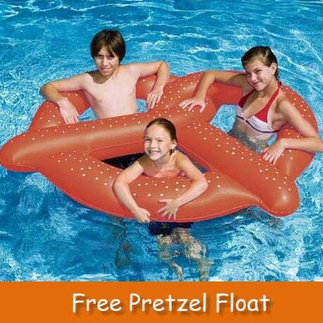 free pretzel float