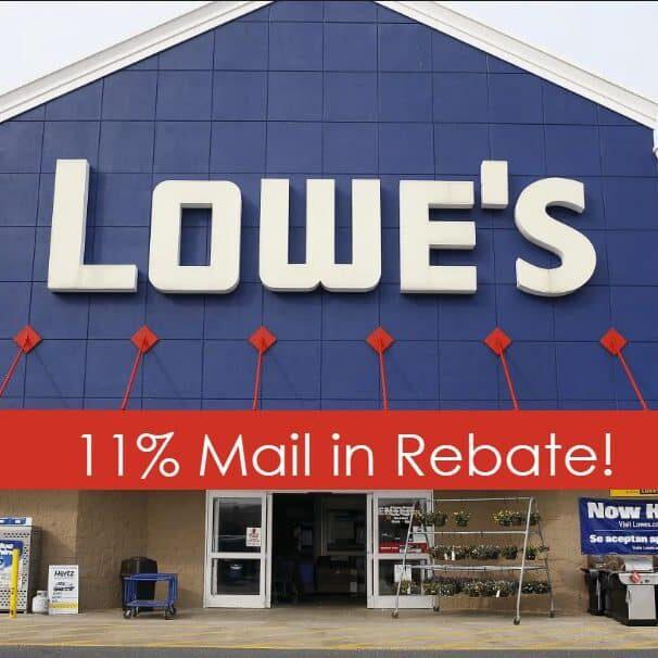 lowes mail in rebate
