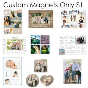 shutterfly custom magnets one dollar