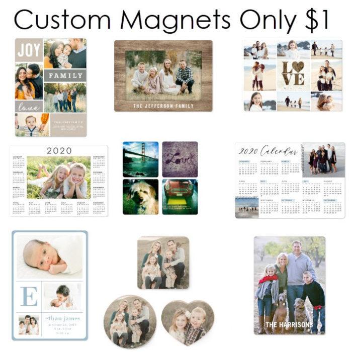 shutterfly custom magnets one dollar